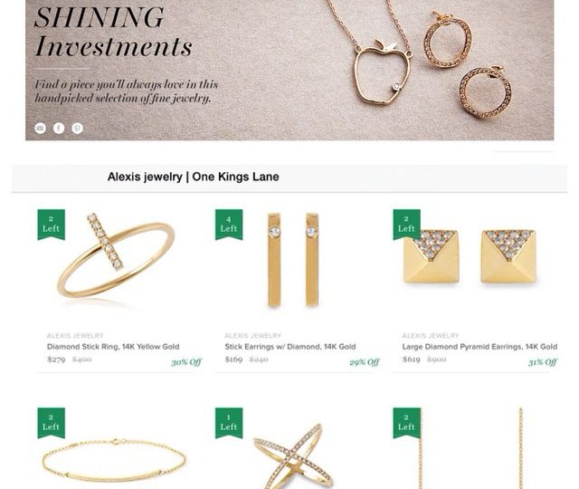 Over 40 of our styles are now available on #onekingslane in their fine jewelry boutique.  Grab them while you can! #shininginvestments #finejewelry #14kgold #diamonds #blackdiamonds #alexisjewelry
