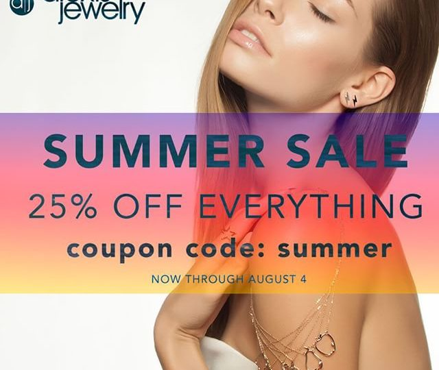 Our #Summer Sale is here! Shop 25% off our Entire Site ️ #AlexisJewelry #Summer #sale #Shop #dainty #Jewelry