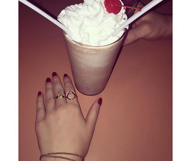 TGIF, it's FRIYAY!  #weekend #FRIYAY #milkshake #cherry #diner #hollywood #losangeles #alexisjewelry #madeinla