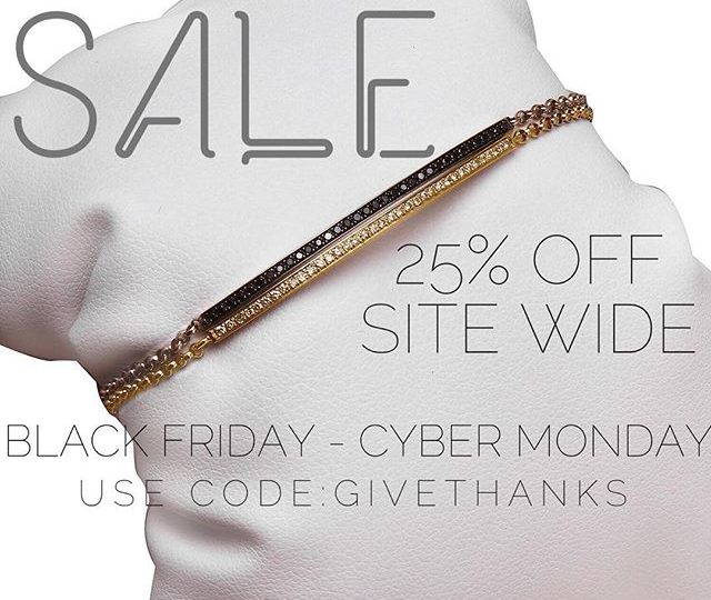 That's right! It's SALE time! 25% off the entire site with code GIVETHANKS #alexisjewelry #finejewelry #holidayshopping #holidays #giftgiving #stockingstuffers #jewelry #gold #rosegold #sterlingsilver #diamonds #blackdiamomds #rings #bracelets #earrings #necklaces #madeinla #losangeles #happyholidays #gifts #shopping #cybermonday #onlineshopping #diamondsareagirlsbestfriend #someonespecial