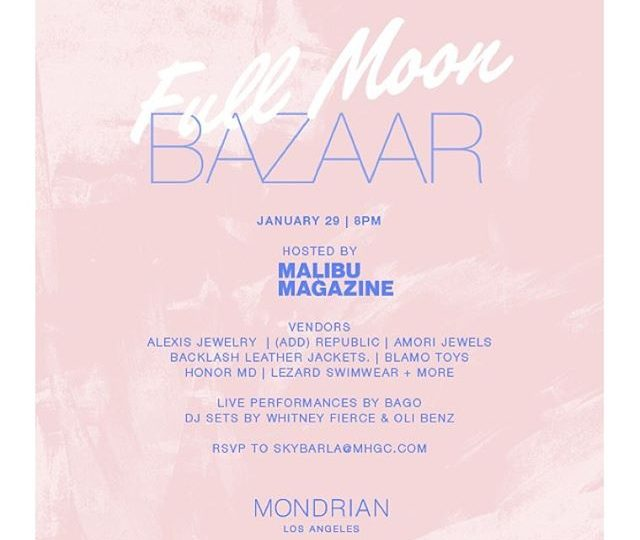We are SO excited to be a part of Full Moon Bazaar this Friday night! Come to Skybar at the Mondrian from 8pm-2am to sip cocktails with us 🍾 Malibu Magazine is hosting and there will be tunes by Bago, Whitney Fierce and Oli Benz | Make sure to send your RSVP to skybarla@mhgc.com |#fullmoonbazaar #skybar #mondrian #fridaynight #friyay #weekend #shopping #cocktails #music #tunes #joinus #westhollywood #losangeles