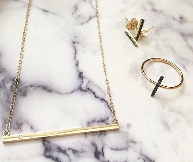 Lovely look to get us through the rest of the week. #alexisjewelry #finejewelry #delicate #everyday #jewelry #humpday #ootd #style #accessorize #marble #minimal #chic #madeinla #losangeles #westhollywood