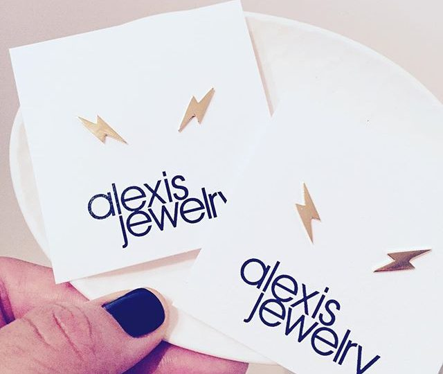 Electric vibes ️ available in 14K pure and gold plate #studs #earrings #14kgold #summertime #lightningbolts #alexisjewelry