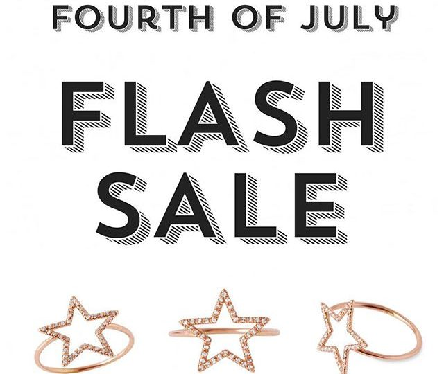 That's right! To celebrate the Fourth of July were hold a FLASH SALE ️ Take 25% off site wide today through Tuesday! Don't miss out! | Visit alexisjewelry.com | #alexisjewelry #flashsale #sale #fourthofjuly #happyfourth #jewelry #finejewelry #madeinla #losangeles