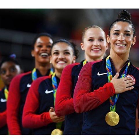 Talk about inspiration, these girls are unreal! @gettysport #teamusa #wcw #girlpower #rio2016 #finalfive #olympic #teamgold #gymnastics #goforgold #gobigorgohome