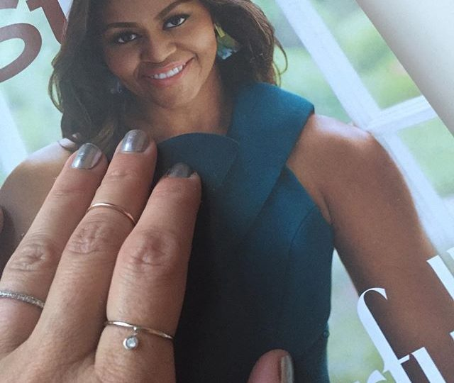 Not sure which i love more… Our NEW thin bands with diamond charms or the fact that Michelle Obama is gracing the cover of InStyle mag this month! 🏻 #itsfridayiminlove #newstyles #new #thinbands #bezeldiamonds #diamonds #charmrings #rings #instyle #instylemagazine #alexisjewelry #everyday #finejewelry #madeinla
