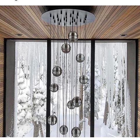 Some insane Winter inspo ️#freshpowder #winter #architecture #modern #lighting  credit @amirmortazavi_